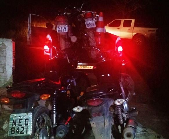 PM encontra casa onde motos eram adulteradas
