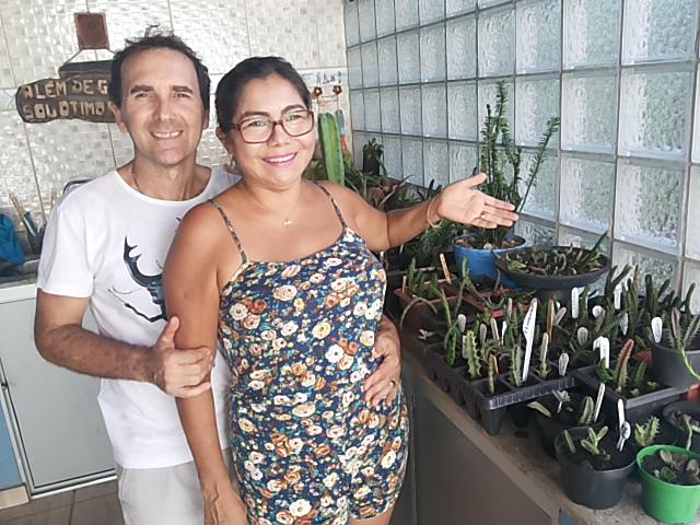De hobby a atividade comercial, casal do AP vende cactos pela internet