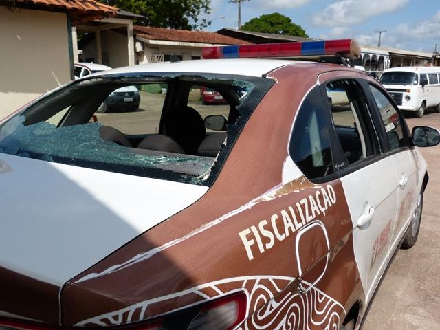 Mototaxistas clandestinos depredam viaturas da CTMac
