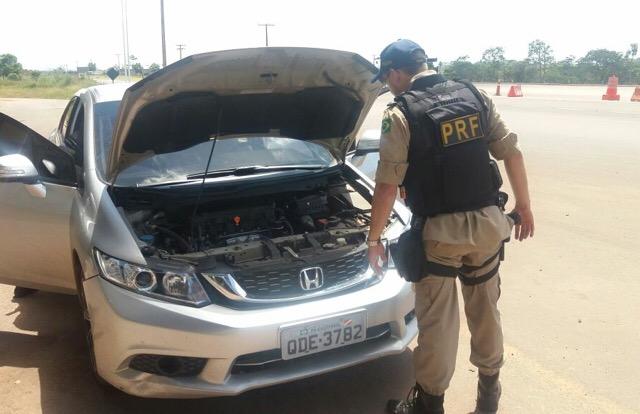 Carro roubado no interior do Pará é recuperado pela PRF no Amapá