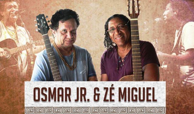 Zé Miguel e Osmar Júnior às margens do Araguari