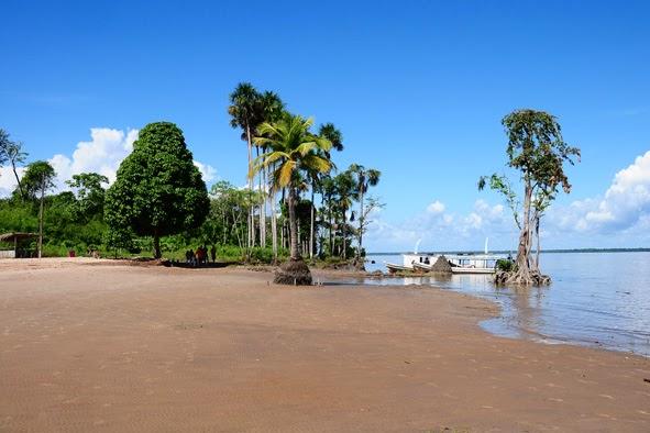 Ilha de Santana: água marrom, mas que não é poluída. Foto: Ralmeida Digital Art