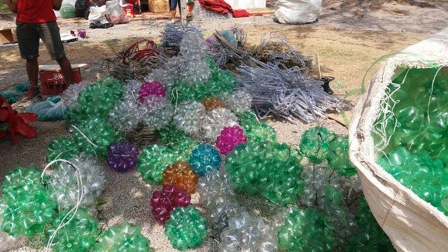 Ornamentação em praça terá 1 milhão de garrafas