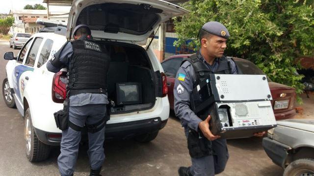 No Ciosp, PMs são impedidos de apresentar objetos furtados de escola