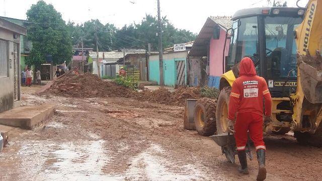Após protestos, rua no Beirol recebe manutenção