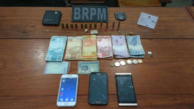 Suspeitos são presos com drogas e munição de uso restrito