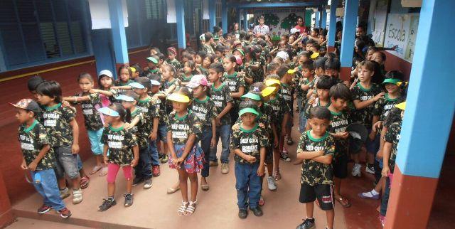 Com prédio de madeira, escola ultrapassa meta do Ideb