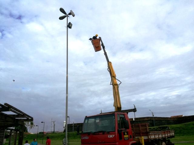 Para evitar furtos, Parque do Forte recebe lâmpadas de LED