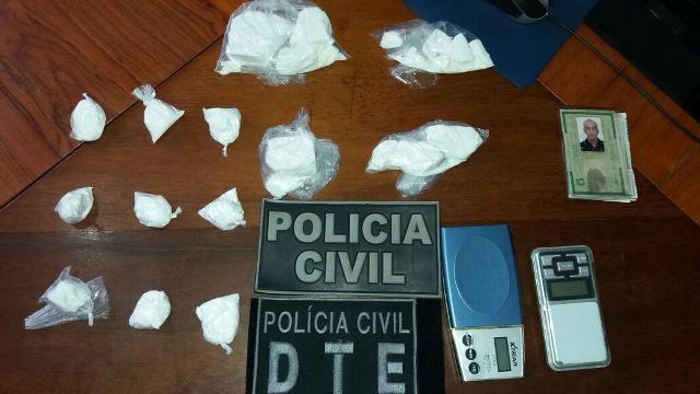 Preso com meio quilo de cocaína, homem trabalhava para detento do Iapen