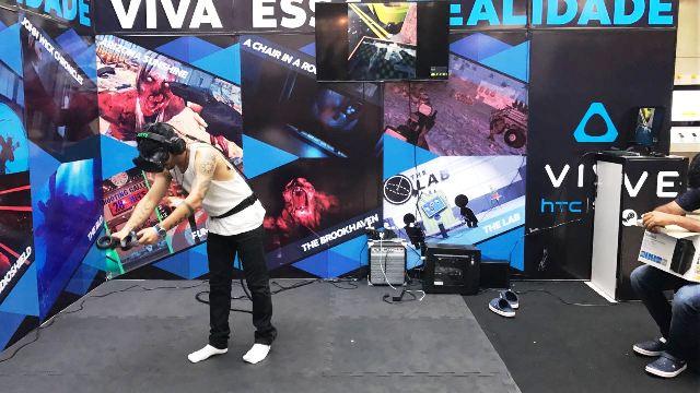 """Em Macapá, realidade virtual faz jogador entrar em outro """"mundo"""""""