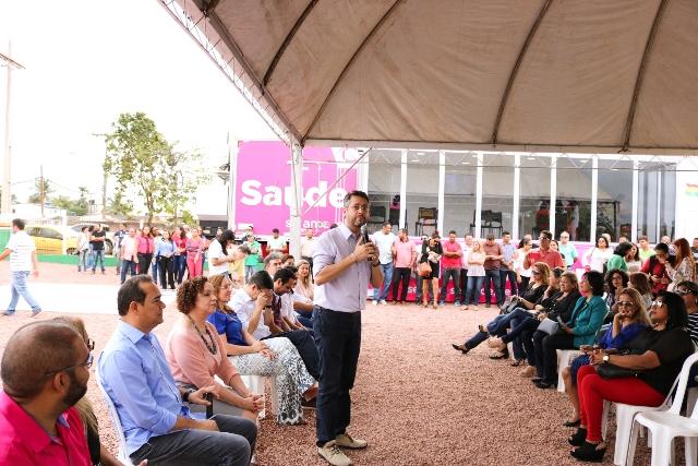 Prefeito Clécio Luís entregou unidade móvel em cerimônia no dia 6. Fotos: Ascom/PMM