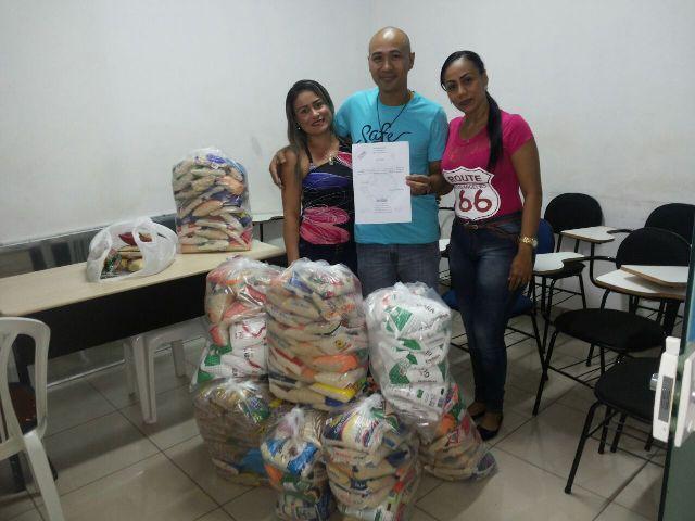 ONG recebe 200kg de alimentos