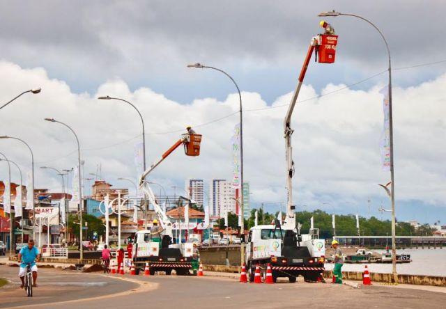 Começa a recuperação da iluminação pública de Macapá