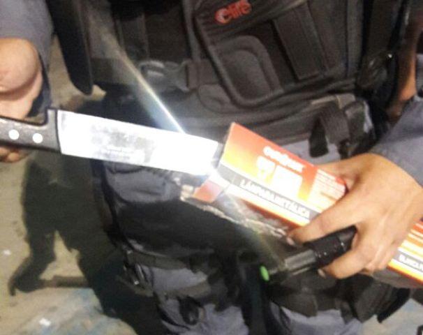 PM encontra faca em festa junina do Colégio Amapaense