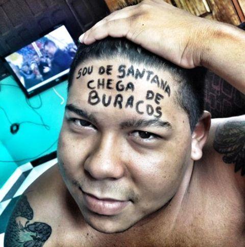 Meme de morador de Santana contra buraqueira viraliza nas redes
