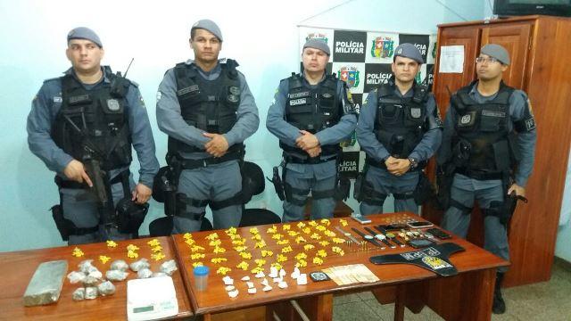 Policiais militares apreendem 3 quilos de drogas