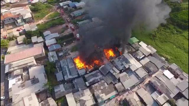 Drone mostra que incêndio do Araxá poderia ter sido pior