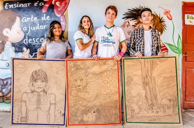 Estudantes de Fazendinha irão expor obras em evento no Pará