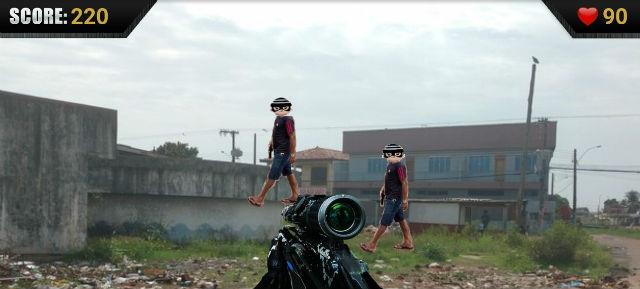 Jogo usa residenciais e ponto turístico para satirizar assaltos em Macapá
