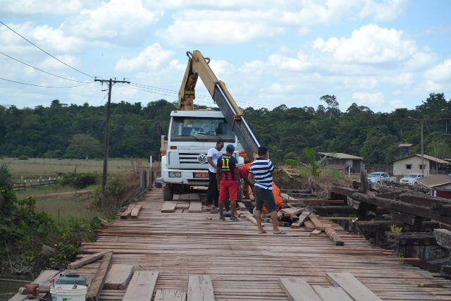 Manutenção em ponte interdita parcialmente tráfego em trecho da 156