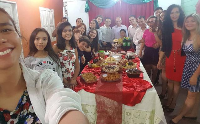 Famílias falam de união e agradecimento no almoço de Natal
