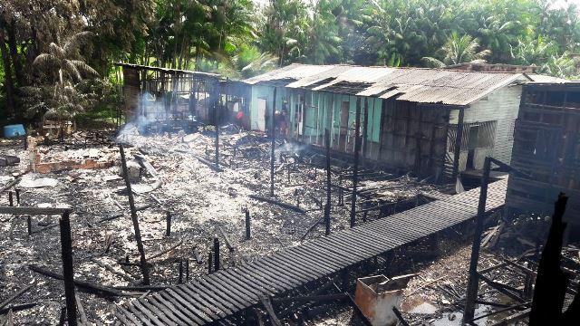 Limpeza em área de incêndio vai evitar possíveis alagamentos