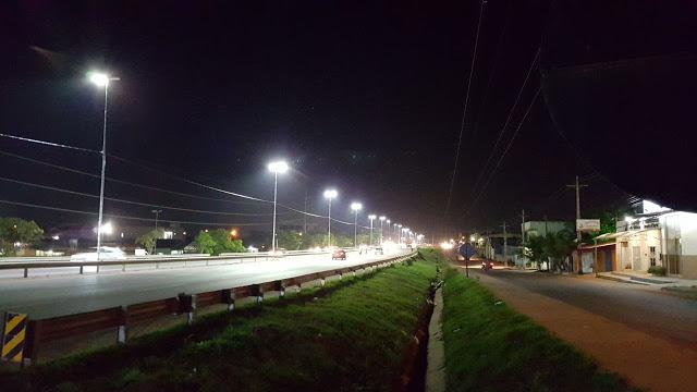 Trecho urbano da 210 recebe projeto de iluminação em LED