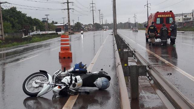 Motociclista fica gravemente ferido na BR-210
