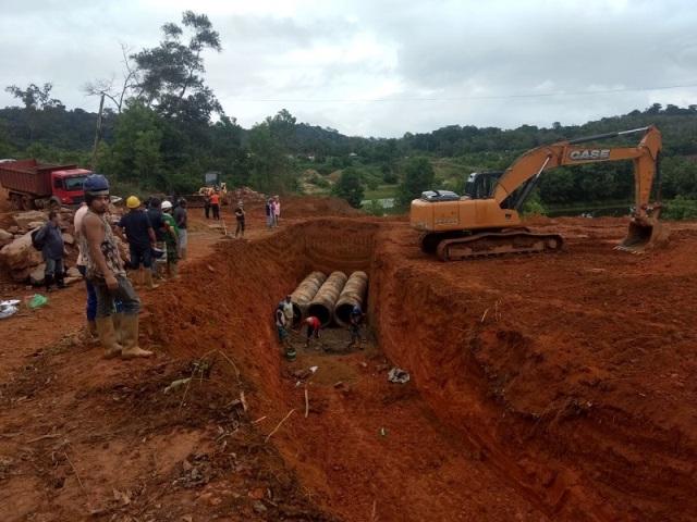Garimpo do Lourenço: desvio para canal começa a ser construído