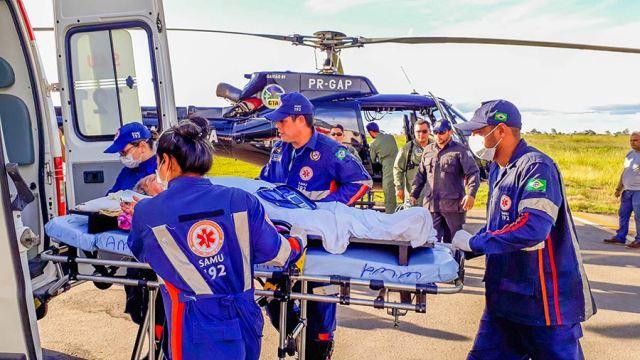 Ribeirinha do AP se torna pessoa mais idosa a ser resgatada por via aérea no Brasil