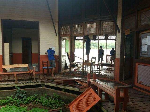 Ação emergencial remove estruturas de escolas ameaçadas no Bailique