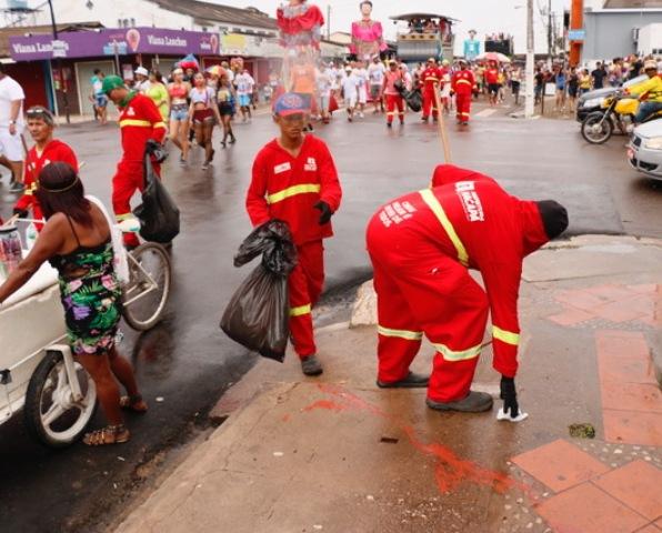 Limpeza da cidade para o Carnaval custou R$ 434 mil