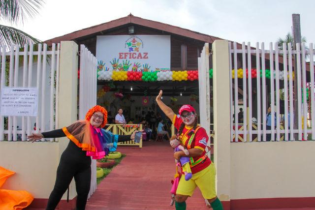 Brincadeiras e arte dão as boas-vindas na rede municipal de Macapá