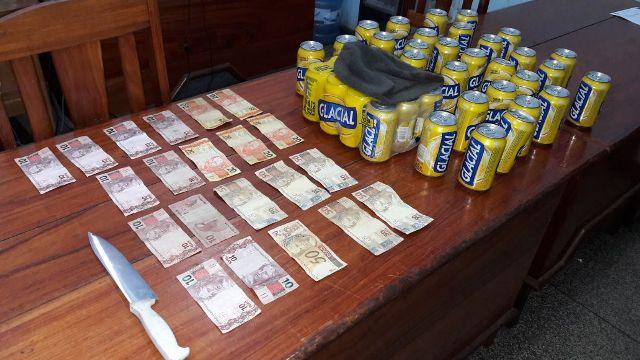Ladrão invade mini box e furta dinheiro e cerveja