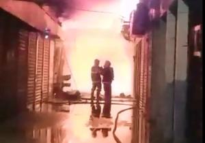Incêndio destrói lojas no Mercado Central de Oiapoque; ASSISTA