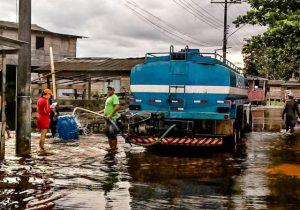 Inundação no Jari contamina 55% da água potável do município