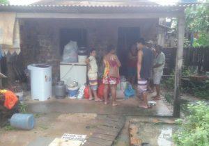 Em 12 horas de chuvas, seis famílias tiveram que deixar suas casas