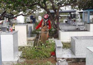 Cemitério é limpo para receber 20 mil visitas no Dia das Mães