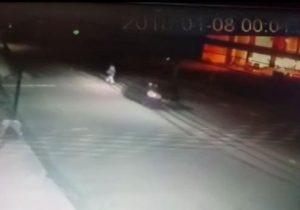 Vídeo mostra carro atropelando catador de latinhas