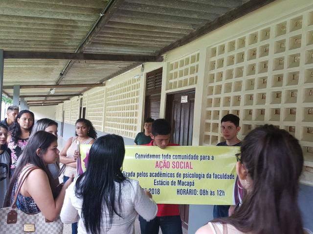 Estudantes de psicologia levam serviços de cidadania e saúde para o Laguinho