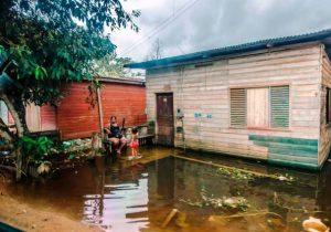 Nível do Rio Jari volta a subir e deixa em alerta a Defesa Civil