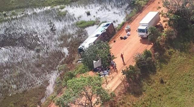 GTA resgata vítimas de acidente na BR-156