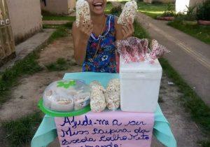 Para realizar sonho de ser miss caipira, menina de 10 anos vende iguarias