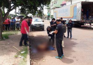 Flanelinha é morto a tiros em frente à Feira do Buritizal