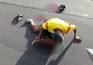 Homem morre após choque entre moto e picape