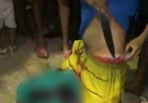 Moradores registram irmão escondendo faca de adolescente executado