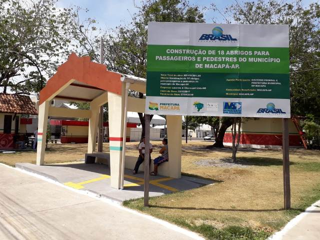 Para que servem os abrigos fora da rota dos ônibus em Macapá?