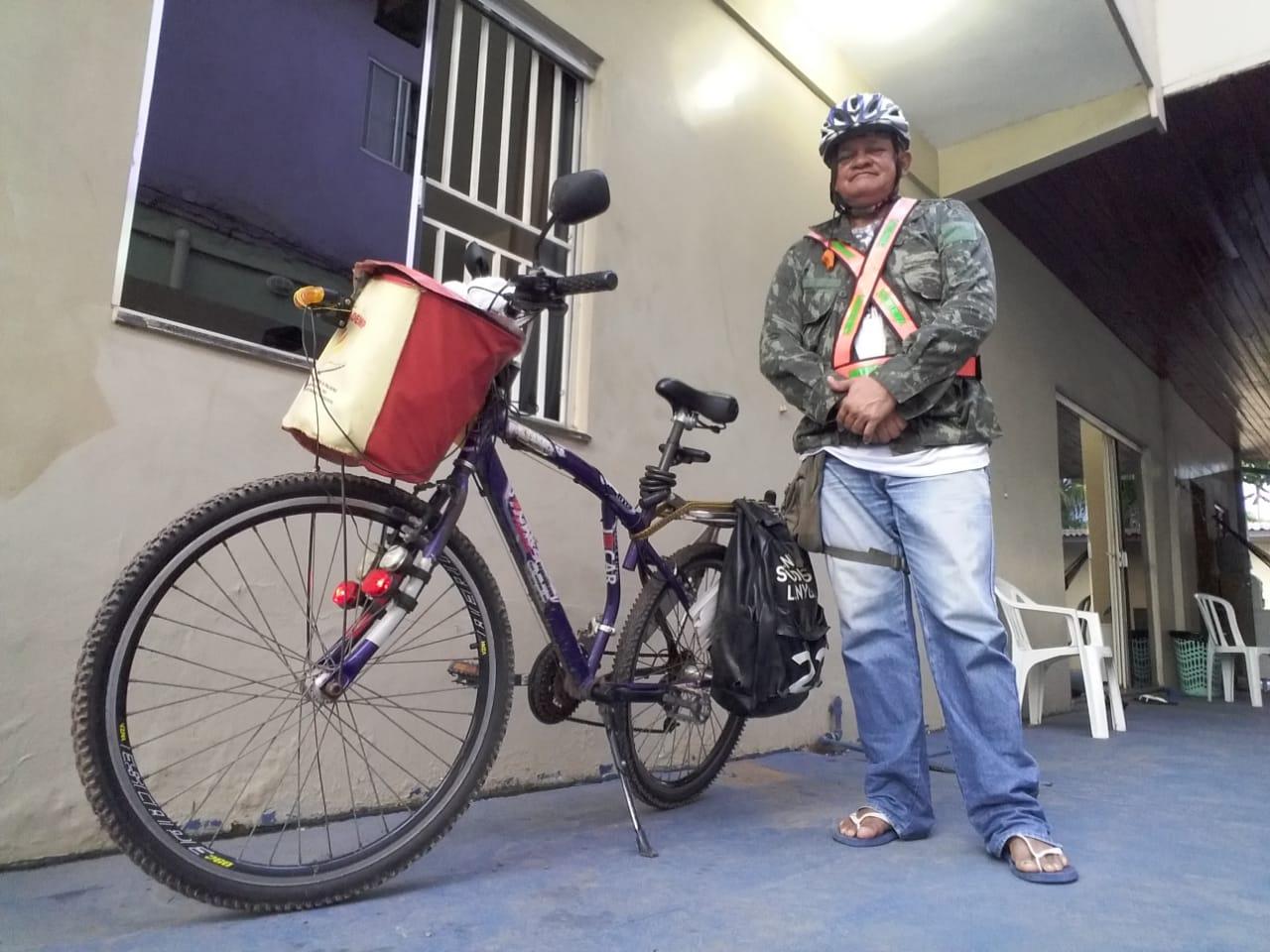Missionário ciclista pede ajuda para comprar bicicleta nova