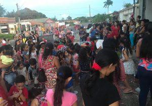 Ação solidária alegra crianças do bairro do Muca