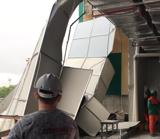 Chuva forte derruba estrutura de novo Aeroporto de Macapá